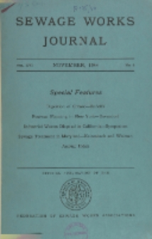 Sewage Works Journal, Vol. 16, No. 6