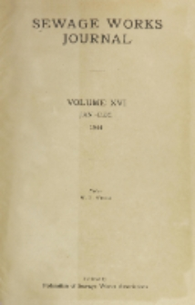 Sewage Works Journal, Vol. 16, Author Index
