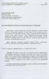 Socjologiczne uwarunkowania ZZL w Polsce