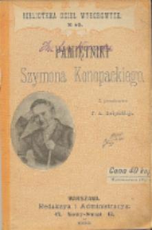 Pamiętniki Szymona Konopackiego. T. 1