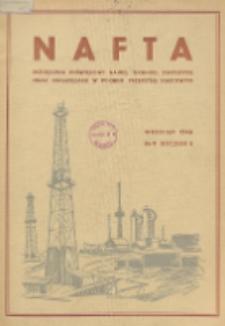 Nafta : miesięcznik poświęcony nauce, technice, statystyce oraz organizacji w polskim przemyśle naftowym, R. 2, Nr 9