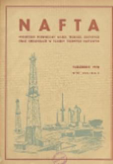 Nafta : miesięcznik poświęcony nauce, technice, statystyce oraz organizacji w polskim przemyśle naftowym, R. 2, Nr 10