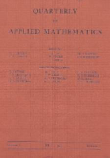 The Quarterly of Applied Mathematics, Vol. 1, Nr 2