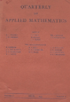 The Quarterly of Applied Mathematics, Vol. 1, Nr 1