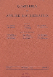 The Quarterly of Applied Mathematics, Vol. 1, Nr 3