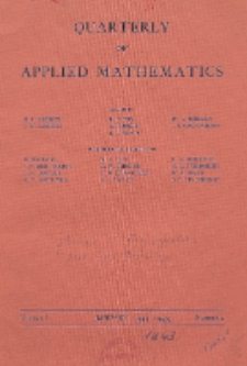 The Quarterly of Applied Mathematics, Vol. 1, Nr 4