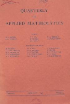The Quarterly of Applied Mathematics, Vol. 2, Nr 4