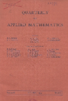 The Quarterly of Applied Mathematics, Vol. 2, Nr 3