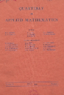 The Quarterly of Applied Mathematics, Vol. 2, Nr 2
