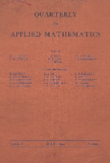 The Quarterly of Applied Mathematics, Vol. 2, Nr 1