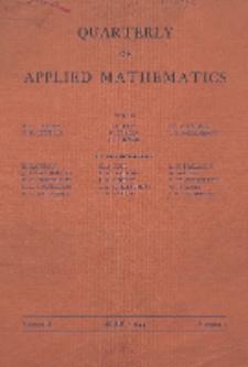 The Quarterly of Applied Mathematics, Vol. 2, Nr 1