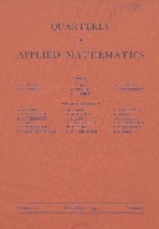 The Quarterly of Applied Mathematics, Vol. 3, Nr 3