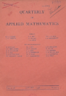 The Quarterly of Applied Mathematics, Vol. 3, Nr 4