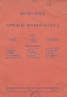 The Quarterly of Applied Mathematics. Vol. 4, Nr 2