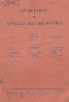 The Quarterly of Applied Mathematics. Vol. 4, Nr 4