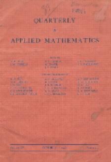 The Quarterly of Applied Mathematics. Vol. 4, Nr 3