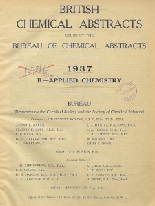 British Chemical Abstracts. B. Applied Chemistry, August