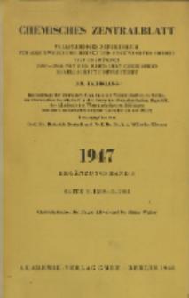 Chemisches Zentralblatt : vollständiges Repertorium für alle Zweige der reinen und angewandten Chemie, Jg. 118, Erg.-Bd. 3, Nr. 9/10