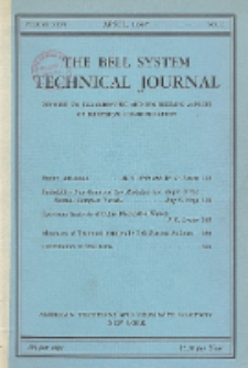 The Bell System Technical Journal : devoted to the Scientific and Engineering aspects of Electrical Communication, Vol. 26, No. 2