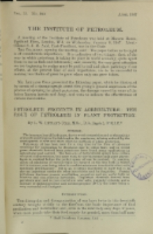 Journal of the Institute of Petroleum, Vol. 33, No. 280