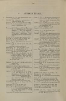 Journal of the Institute of Petroleum, Vol. 33, Author Index