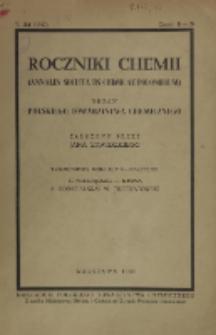Roczniki Chemii : organ Polskiego Towarzystwa Chemicznego, T. 21, Z. 1-3