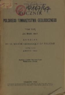 Rocznik Polskiego Towarzystwa Geologicznego, T. 17 za rok 1947