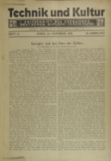 Technik und Kultur : Zeitschrift des Verbandes Deutscher Diplom-Ingenieure, Jg.16, H. 12