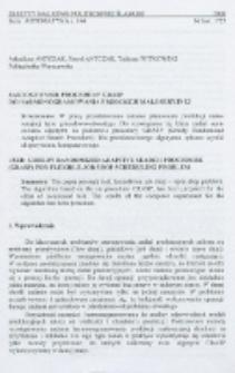 Zastosowanie procedury GRASP do harmonogramowania produkcji małoseryjnej