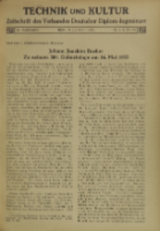 Technik und Kultur : Zeitschrift des Verbandes Deutscher Diplom-Ingenieure, Jg. 26, Nr 4