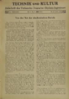 Technik und Kultur : Zeitschrift des Verbandes Deutscher Diplom-Ingenieure, Jg. 26, Nr 6