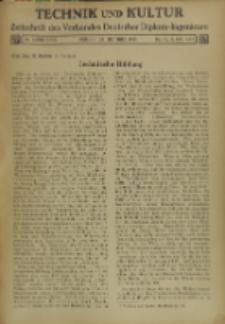 Technik und Kultur : Zeitschrift des Verbandes Deutscher Diplom-Ingenieure, Jg. 26, Nr 10
