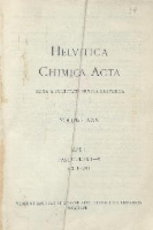 Helvetica Chimica Acta, Vol. 30, Fasc. 1