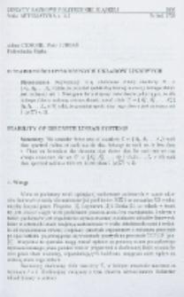 O stabilności dyskretnych układów liniowych