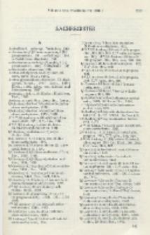 Helvetica Chimica Acta, Sachregister