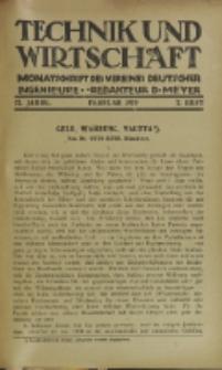 Technik und Wirtschaft : Monatsschrift des Vereines Deutscher Ingenieure, Jg. 12, H. 2