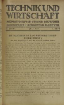 Technik und Wirtschaft : Monatsschrift des Vereines Deutscher Ingenieure, Jg. 12, H. 7