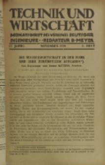 Technik und Wirtschaft : Monatsschrift des Vereines Deutscher Ingenieure, Jg. 12, H. 11