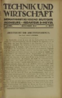 Technik und Wirtschaft : Monatsschrift des Vereines Deutscher Ingenieure, Jg. 12, H. 12