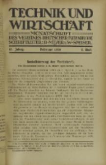 Technik und Wirtschaft : Monatsschrift des Vereines Deutscher Ingenieure, Jg. 13, H. 2