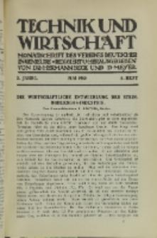 Technik und Wirtschaft : Monatsschrift des Vereines Deutscher Ingenieure, Jg. 3, H. 5