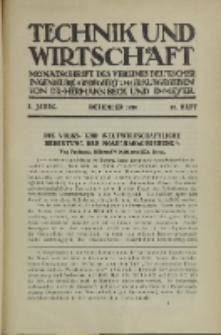 Technik und Wirtschaft : Monatsschrift des Vereines Deutscher Ingenieure, Jg. 3, H. 12