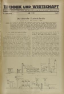 Technik und Wirtschaft : Monatsschrift des Vereines Deutscher Ingenieure, Jg. 21, H. 7