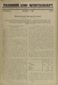 Technik und Wirtschaft : Monatsschrift des Vereines Deutscher Ingenieure, Jg. 21, H. 9