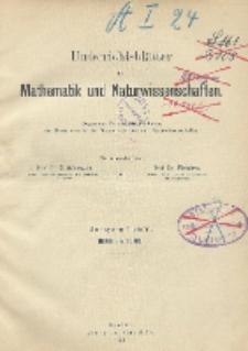 Inhalts - Verzeichnis. Jg. I bis V., 1895 bis 1899