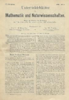 Unterrichtsblätter für Mathematik und Naturwissenschaften, Jg. 2, No. 6