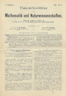 Unterrichtsblätter für Mathematik und Naturwissenschaften, Jg. 2, No. 4