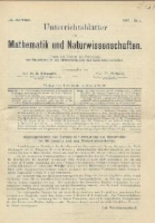 Unterrichtsblätter für Mathematik und Naturwissenschaften, Jg. 3, No. 1