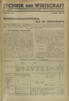 Technik und Wirtschaft : Monatsschrift des Vereines Deutscher Ingenieure, Jg. 23, H. 2