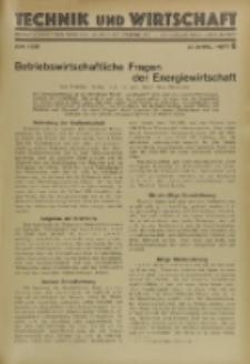 Technik und Wirtschaft : Monatsschrift des Vereines Deutscher Ingenieure, Jg. 23, H. 6